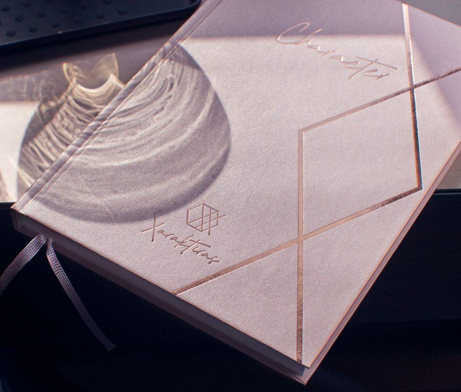 Xaraktiras Design-Notizbuch Classy Rosé Gold