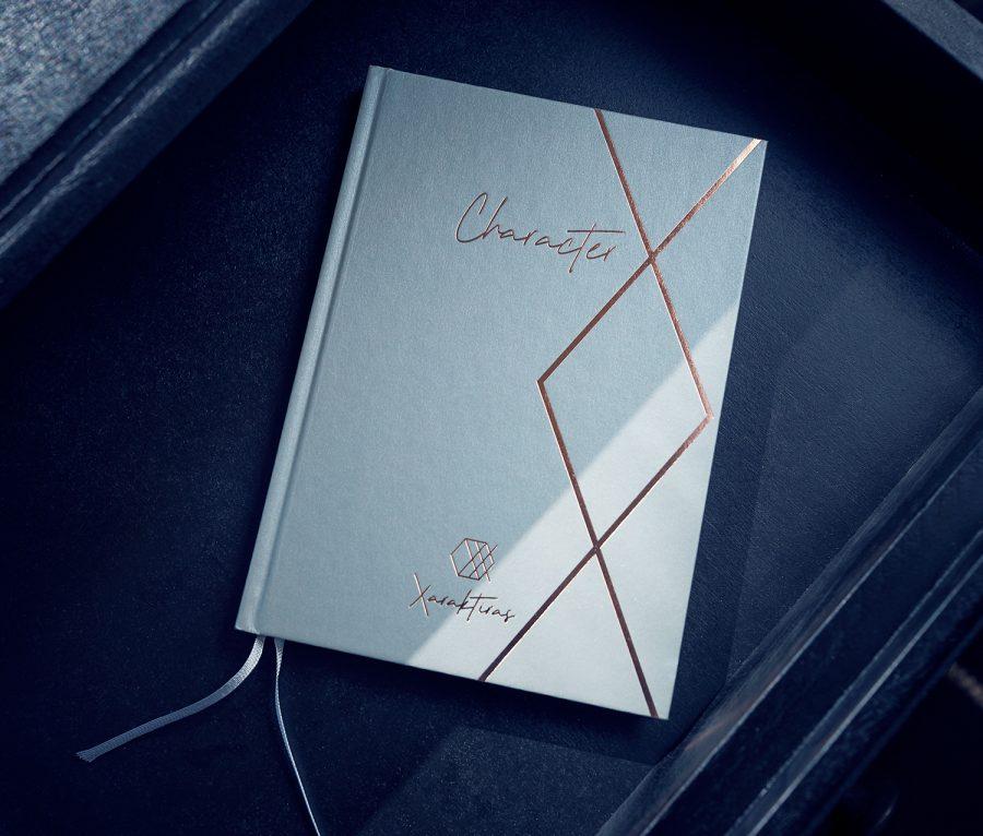 Xaraktiras Design-Notizbuch Classy Eucalyptus