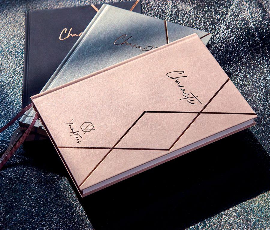 Xaraktiras Design-Notizbuch Rosé Gold