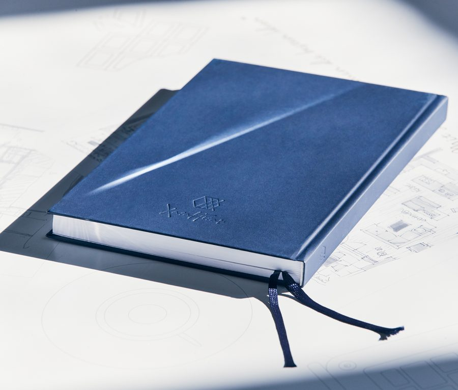 Xaraktiras Design-Notizbuch Pure Dark Blue