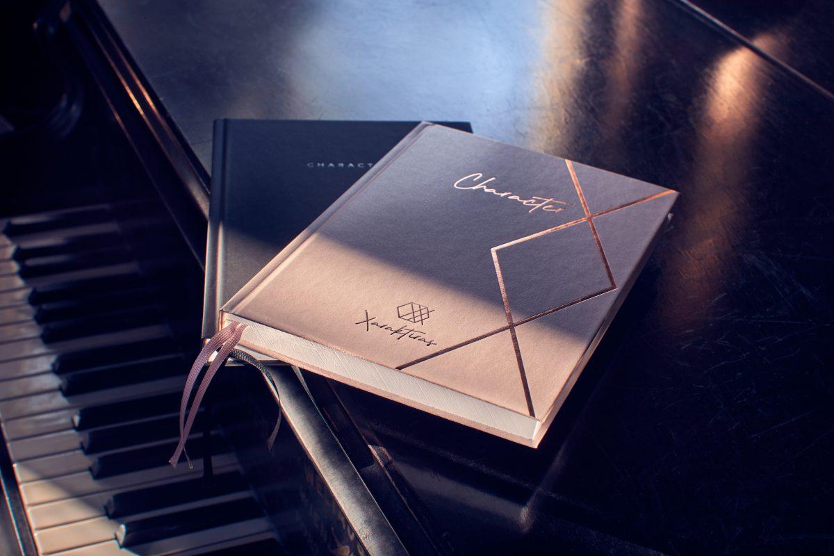 Design-Notizbuch mit Charakter
